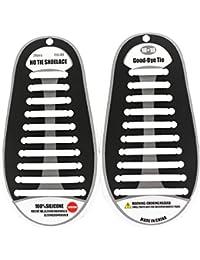 Coolnice Lacets Elastiques Imperméables pour Enfants et Adultes No Tie Lacets Etanche Silicone pour Chaussure Sport Loisir Shoes Sneaker Conseil Bottes et Souliers