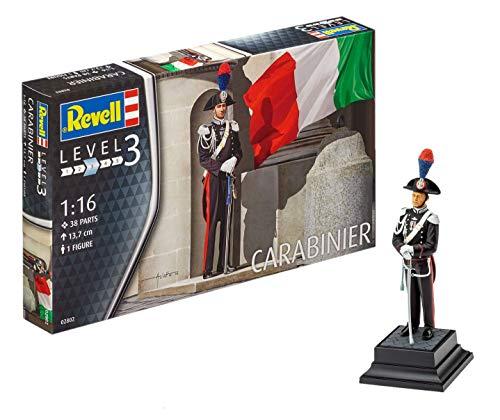 Revell Modellbausatz Figuren 1:16 - Ehrengarde Italienische Carabinieri / Italian Carabiniere im Maßstab 1:16, Level 3, originalgetreue Nachbildung mit vielen Details, 02802 (Auto-modell Im Maßstab Kit)