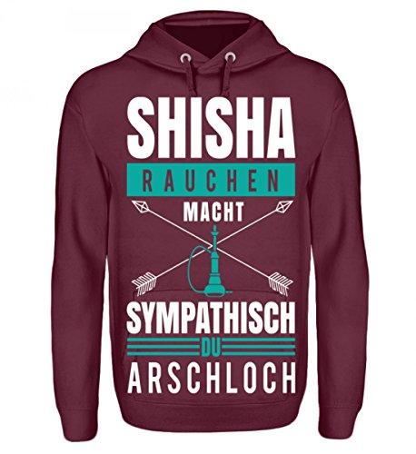 Preisvergleich Produktbild Hochwertiger Unisex Hoodie - Shisha rauchen macht Sympathisch