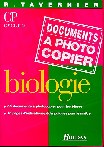 Biologie CP, cycle 2. Fiches à photocopier
