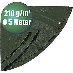 Bâche de protection pour PE rond Ø 5m Vert Type 430500