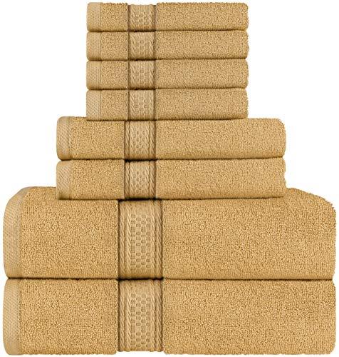 Utopia Towels Set di asciugamani 8 pezzi; 2 asciugamani da bagno 2 asciugamani e 4 salviette