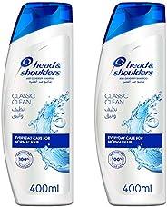 Head & Shoulders Classic Clean Anti-Dandruff Shampoo for Normal Hair, 400ml Dual