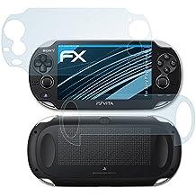 atFoliX Lámina Protectora de Pantalla Sony PlayStation Vita Película Protectora - Set de 3 - FX-Clear ultra transparente