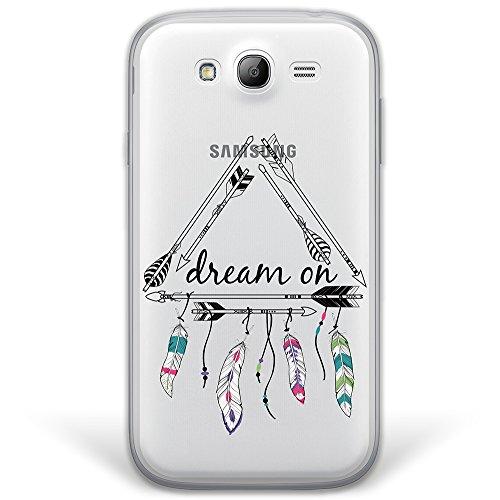 Samsung Galaxy Grand Neo Plus Hülle, WoowCase® [ Hybrid ] Handyhülle PC + Silikon für [ Samsung Galaxy Grand Neo Plus ] Dream On Handytasche Handy Cover Case Schutzhülle - Transparent