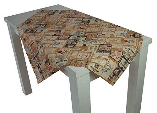 beties Rustika Mitteldecke ca. 80x80 cm in großer Artikel-Auswahl für den gemütlich-rustikalen und zeitlos-modernen Einrichtungsstil Farbe (camel-burgund)