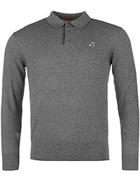 Kangol Herren Strick Polo Shirt Pullover Langarm Strickpullover Pulli Baumwolle