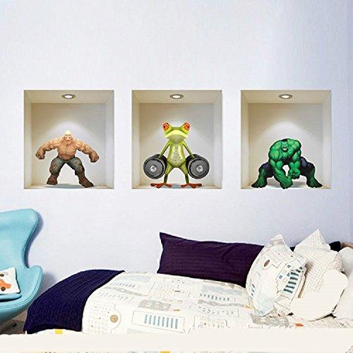 3pcs-set-cartoon-hercules-scene-in-3d-rimovibili-adesivi-da-parete-per-camera-da-letto