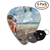 American Classic Car On The Beach Cayo Jutias Province Pinar Del Rio Cuba Stylish Celluloid Guitar Picks Plectrums For Guitar Bass .6 Pack 46mm