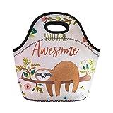 abbracci idea borsa termica per il pranzo in neoprene Sloth Lunbox da donna, per bambini Sloth 4