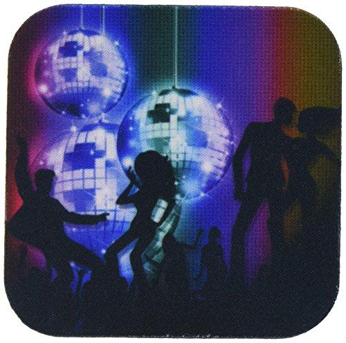 3drose CST _ 164722_ 2Funky Retro Disco Kugel Dance Party aus der 80s-soft Untersetzer, Set von 8