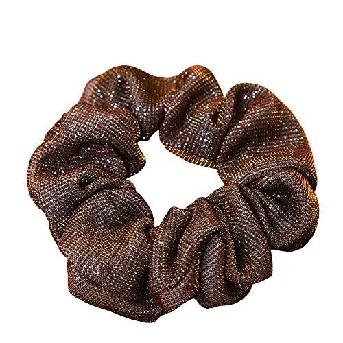 timeracing Glitzer Haargummi für Frauen Haarband Pferdeschwanz-Halter Zubehör Stirnband Kopfhörer Stirnband für Mädchen Haarband Haarband Stirnband