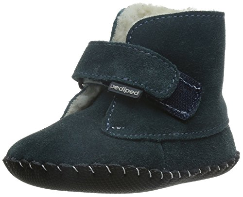 Pediped Originals Henry Navy Suede Baby Soft Soles Navy