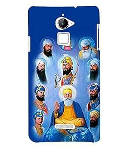 Fiobs Designer Back Case Cover for Coolpad Note 3 Lite :: Coolpad Note 3 Lite Dual SIM (Sikh Sikhism Guru Image)