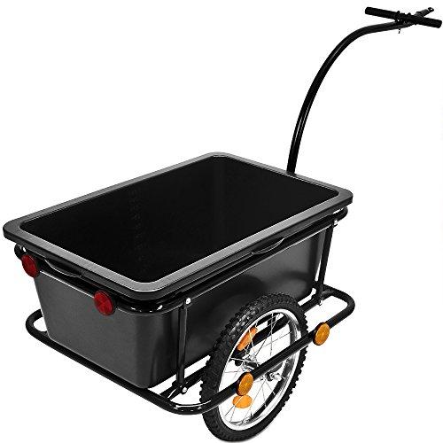 Deuba ® Remolque bicicletas | Remolque mango | Carga