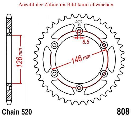jtSprockets Kettenrad DR-Z 400 SM 2005-2008 39 Zähne JTR808-39 -