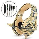 Ydq Camouflage Kopfhörer Headset mit Mikrofon Rauschunterdrückung Stereo Kabel Schalldichte Gaming Headset 360 ° Einstellbar