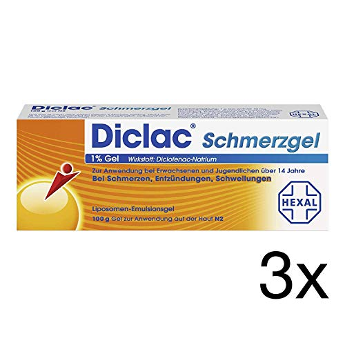 Diclac Schmerzgel 3x100g Gel Spar-Set inklusive einer Handcreme von vitenda.de