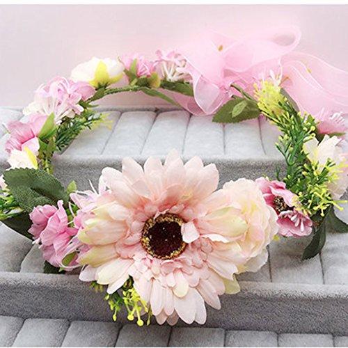 & Coiffe des fleurs de la Couronne guirlande, courroies de coiffure de mariée accessoires de mariage de vacances de bord de mer couronne de couronnes de fleurs ( Couleur : 6 )