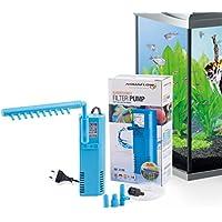 Aquaflow Technology® AIF-311M - Pompe de filtre pour aquarium submersible pour eau fraîche et eau salée. Pour réservoirs d'aquarium jusqu'à 50 litres. 300L/H 2W