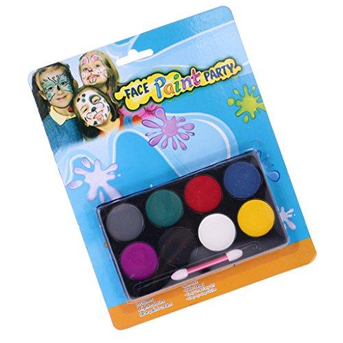 Gazechimp 8 Farben Gesicht Farbe Körper Malerei Palette Set Für Gesicht und Körper (Kostüme Malen Gesicht Halloween Mit)