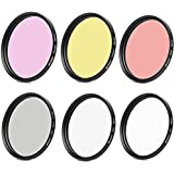 SHOOT 6In1 Filter Set UV Filter CPL Filter ND2 58MM Lens Filter Kits Slim Graduated Color (Yellow Purple Red) For GoPro HERO 5