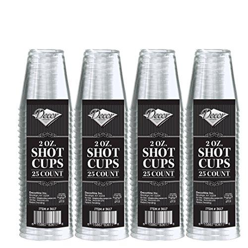 Decorline - Verres à liqueur jetable Cristal 60ml -100 pièces