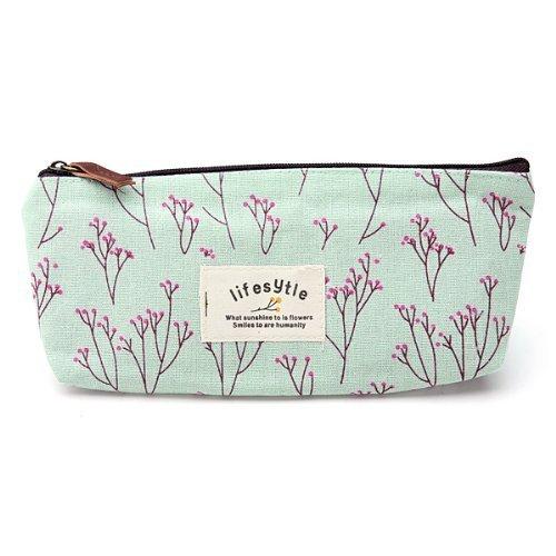 TOOGOO(R) Campagne fleur floral Crayon stylo Case Sac de cosmetique maquillage
