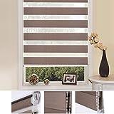 SHINY HOME® Estor enrollables opaco translúcidos(para ventanas y salon),poliéster materiales de (Ancho x alto) 87*150cm,colors café