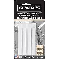 General Pencil - Juego de 4 lápices de carbón comprimido, no aplicable, 13.97 x 7.23 x 1.27 cm