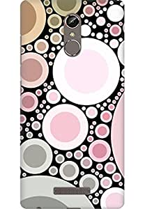 AMEZ designer printed 3d premium high quality back case cover printed hard case cover for Gionee Marathon S6S (Pink pearls abstract)