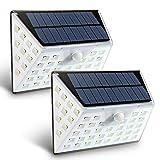 Sofunny Solarleuchten 53 LED Wandleuchte Außen Bewegungsmelder Solarleuchten Wasserdicht Sicherheits mit 10 LEDs beide Seite Weitwinkel Wireless Außen Solar Wandleuchte 4 Modi für Garten, Patio, Deck, Hof, Auffahrt 2 Stücke
