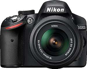 Nikon D3200 Appareil photo numérique Réflex 24,2 Mpix Kit Boîtier + Objectifs AF-S DXNIKKOR VR II 18-55 Mm/55-200 Mm Noir