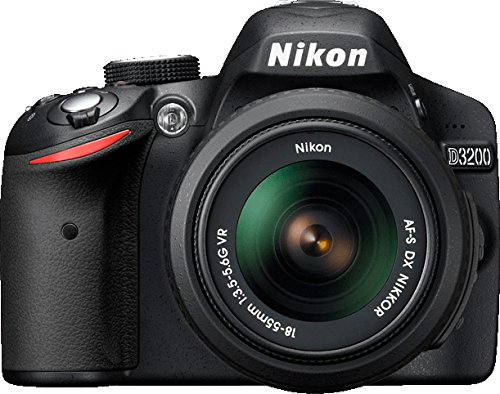 Nikon D3200 SLR-Digitalkamera (24 Megapixel, 7,4 cm (2,9 Zoll) Display, Live View, Full-HD) Double Zoom Kit inkl. AF-S DX 18-55 VR II und 55-200 VR Objektiv schwarz