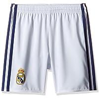 Adidas Real Madrid CF 2015/16 H SHO Y Pantalón Corto, Niños, Blanco/Morado, 7-8 años