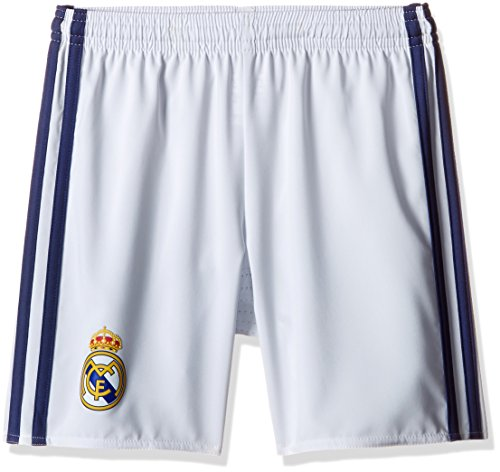 Adidas Boy s Real Madrid Home Shorts - Crystal White S16 Raw Purple S16  Size 128