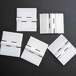 Pack of 5 x WHITE Acrylic Hinges 32mm x 38mm WHITE Hinges, Continuous Acrylic Piano Hinge