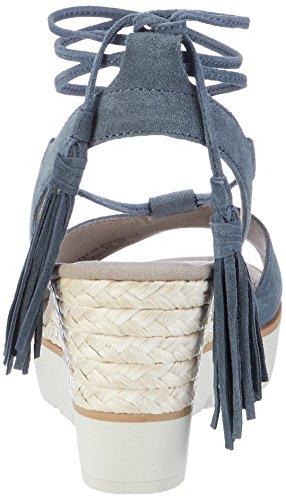 Gabor Fashion, Sandales Bout Ouvert Femme Bleu (jeans 16)