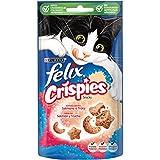 Purina Felix Party Mix Crispies Snacks, golosinas y chuches para gato Salmón y Trucha 45 g