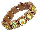 Lovely Lauri Holz Armband Heiligen Bilder Ikonen Damen Herren Gummizug Hellbraun