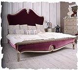 Schönes Bett/Ehebett/Doppelbett/Schlafzimmerbett/Maxibett mit lieblichem und extravaganten Schnitzereien aus Holz und zudem im angesagten französischen Landhaus-Stil – Palazzo Exclusive - 4