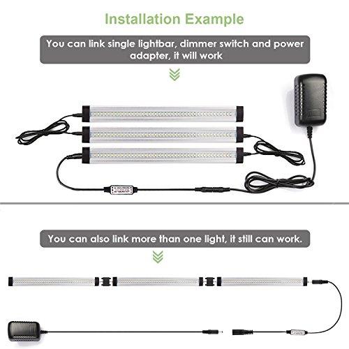 LEBRIGHT Luci LED sottopensile dimmerabile LED ultra sottile sotto ...