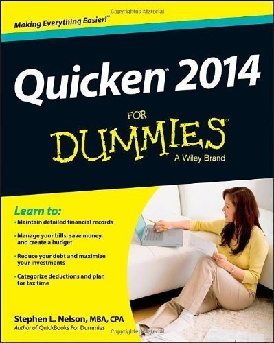 Dummies Quicken (Quicken 2014 For Dummies 1st edition by Nelson, Stephen L. (2013) Paperback)