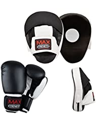 Max Strength New Target Foucs Pads Mesh Golden Focus Pad Boxing Gloves white/Black 12oz É