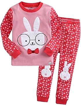 Vaenait Baby 74-122 Kinder Maedchen Bekleidung Langarm zweiteilige Schlafanzug Hey Tory