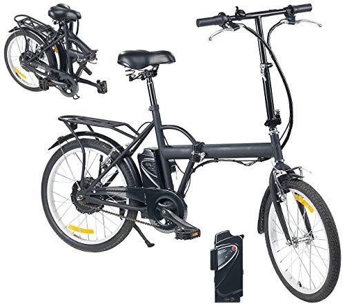 """eRädle Elektro Fahrrad: Klapp-Pedelec 20\"""" mit bürstenlosem Motor, 2 Akkus (4,4/7,8 Ah) (Klapprad)"""