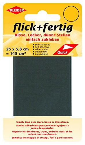 Kleiber - Nastro per riparazioni in Nylon Autoadesivo Flick Plus Fertig 140 cm, Grigio