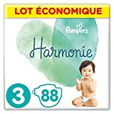 Pampers - Harmonie - Couches Taille 3 (6-10kg) Hypoallergénique - Lot economique (88 couches)