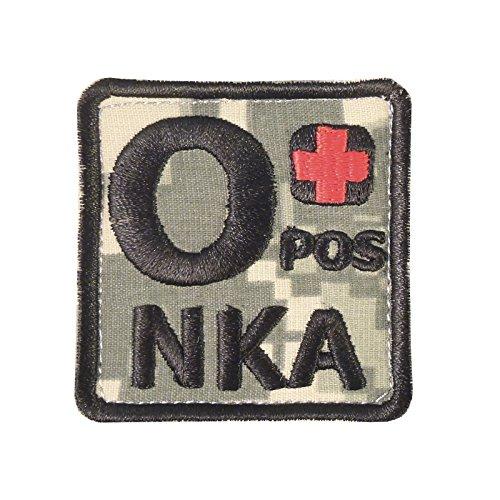ACU O POS O+ NKA Blutgruppen OD Embroidered Velcro Aufnäher Patch