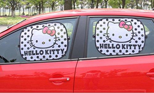 Faltbare Paar Auto Seitenfenster Sonnenblende Auto Statische Cling Sonnenschutz Beschützer Einfacher Gebrauch,Hello Kitty Black